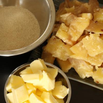 Ingre dients caramel ananas