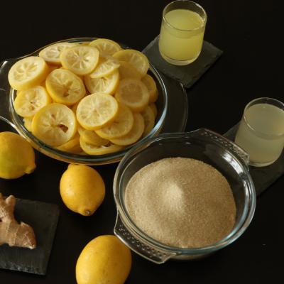 Ingre dients marmelade citron