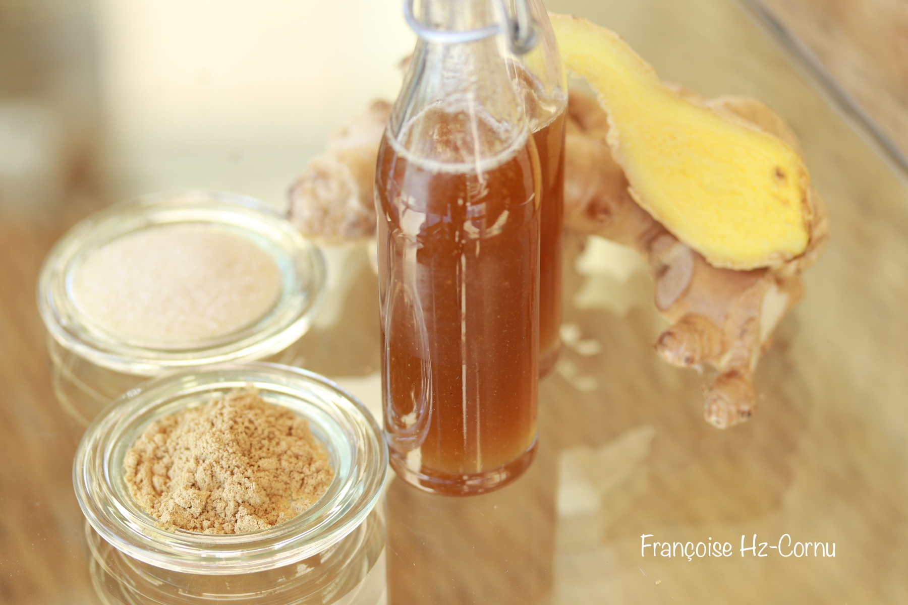 Sirop gingembre poudre